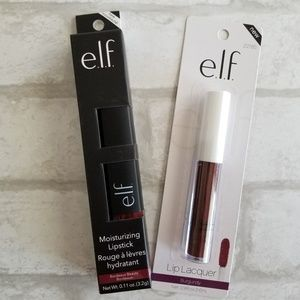 E.L.F. Lip Bundle Lipstick Gloss Burgundy